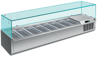 GGG Kühlaufsatz 10 x GN 1/4 mit Glasaufsatz