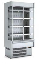 Wandkühlregal Profi 2900 Edelstahl mit Glastüren