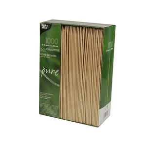 "Papstar 1000 Schaschlikspieße, Holz ""pure"" Ø 3 mm x H: 20 cm"