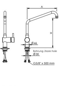 """Echtermann Einhebel-Standmischbatterie 1/2"""" auf Säule"""