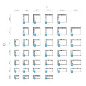 GGG Kühlzelle ECO 80mm Wandstärke - 2000 x 2900 x 2110