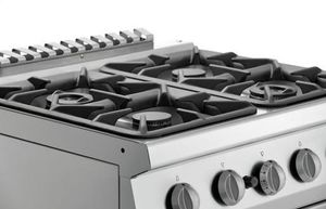 Bartscher 4 Flammen Gasherd 700 Classic mit Gasbackofen