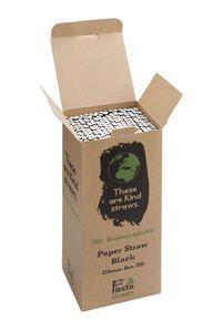 Fiesta Green biologisch abbaubare Papiertrinkhalme schwarz 250 Stück