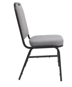 Bolero Bankettstühle mit rechteckiger Lehne grau