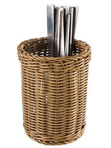APS Besteckkorb -ECONOMIC- Vertikal, braun, Ø 12 cm, H: 15 cm