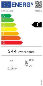 Kühlauslagevitrine 67L mit 8 x 1/6