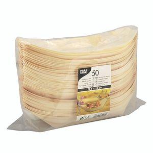 """Papstar  Pure  Fingerfood-Schalen XL - """"Schiffchen""""; Holz - 50 Stück"""