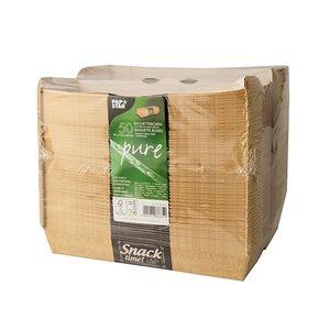 """Papstar  Pure  Baguetteboxen - """"Good Food""""; Pappe - 6,2 cm  x  7,5 cm  x  21 cm"""