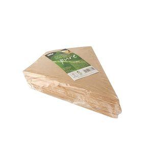 Papstar  Pure  Pommes-Frites-Spitztüte- S -mit Dip-Ecke; Pappe - 50 Stück - 100g