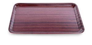 Schichtstofftablett in Holzoptik, 36cm x 28cm - Auslaufartikel