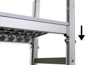 Einhängeregal Profi 850 x 400 x 1670 mm, 4 Böden