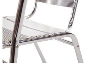 Bistrostühle Bolero aus Aluminium mit gerundeter Armlehne