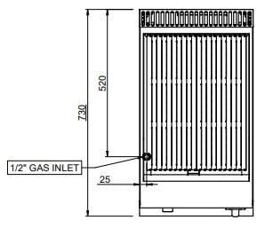 Gas-Lavasteingrill Dexion Serie 77 - 40/70