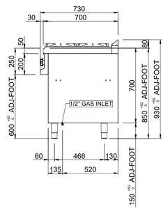 Gasherd Dexion Serie 77 - 110/70 42 kW