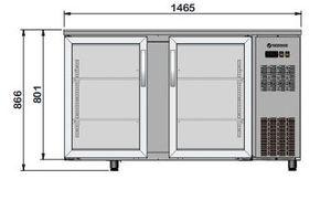 Barkühltisch PROFI 2/0 - mit Glastüren