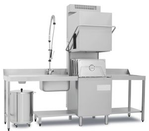 Haubenspülmaschine Dexion D626LKPNRG mit Wärmerückgewinnsystem
