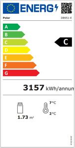 Polar Kühlvitrine Deli 385 Liter