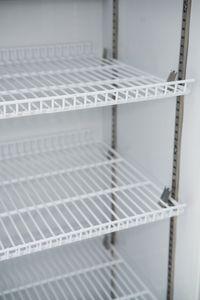 Getränkekühlschrank ECO 278 Weiß mit Leuchtaufsatz