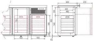 Fasskühler Premium  4 x 50 Liter mit Glastüren