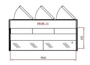Fischkühltheke Profi 20x9 - gerades Frontglas