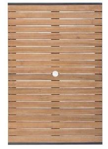 Bolero viereckiger Stahl- und Akazienholztisch 120x80cm