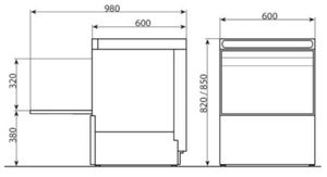 Geschirrspülmaschine PROFI 50 SLE Digital