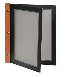 Securit Menümappe Holz A4 schwarz