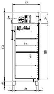 Kühlschrank Profi 1400 GN 2/1 - mit 2 Türen