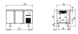 Kühltisch Profi 2/0 - GN 1/1