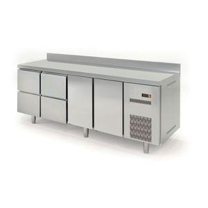 Kühltisch Profi 600 2/4 mit Aufkantung