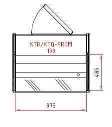 Kühltheke Profi 100 - gerades Frontglas