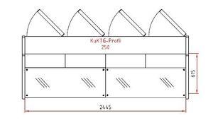Kuchentheke Profi 250 gerades Frontglas