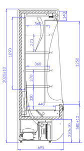 Wandkühlregal Paros PA101