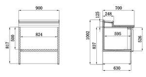 Belegstation ECO 900 für 5 x 1/6 GN Behälter