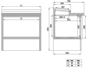 Belegstation ECO 1365 für 7 x 1/3 GN Behälter