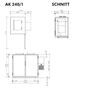 Hefa Abfallkühler 1x 240L