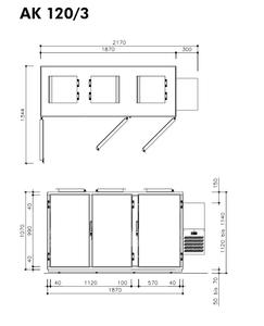 Hefa Abfallkühler 3x 120L