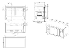 Wärmeschrank ECO 14x6 mit Schiebetüren und Aufkantung