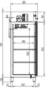 Tiefkühlschrank Profi 1400 GN 2/1 - mit 2 Türen