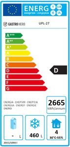 Coreco Edelstahltiefkühlschrank US Range 650