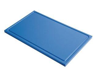 Schneidebrett mit Saftrille Gastro-M GN 1/2 blau
