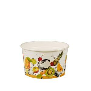 """Papstar  Pure  Eisbecher - """"Früchte"""" S rund; Pappe - 100 Stück- 125 ml"""