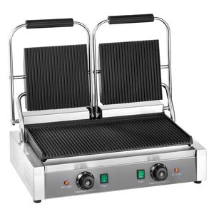 Elektro-Kontaktgrill ECO 2 x 1,8 kW, gerillt