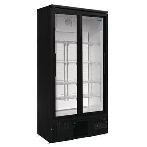 Getränkekühlschrank Polar 490L schwarz - mit 2 Schiebetüren