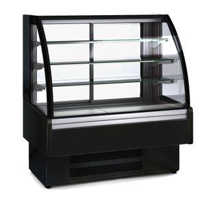 Kühlvitrine Profi 130S für Schokolade- rundes Frontglas