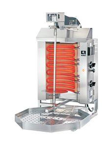 Gril électrique kebab/gyros Potis E1 - cuve de graisse octogonale