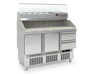 Pizzatisch PROFI Mini 2/2 mit Kühlaufsatz