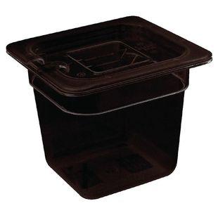 Vogue GN-Behälter 1/6 schwarz - 100 mm