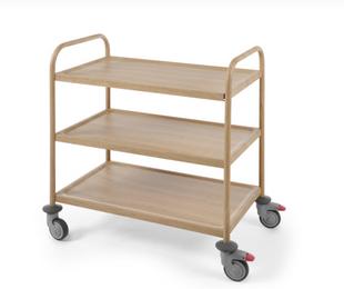 Servierwagen Holzoptik - Eichenholz