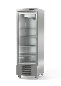 Coreco Edelstahltiefkühlschrank US Range 650 mit Glastür